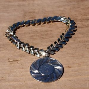 Mid-Century Coro Medallion Charm Bracelet